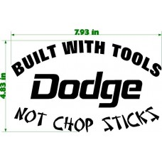 BUILT WITH TOOLS DODGE