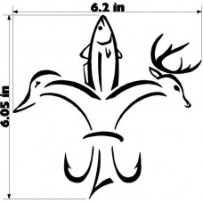 HUNTING AND FISHING FLEUR-DE-LIS