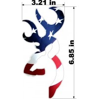 BROWNING BUCK USA FLAG